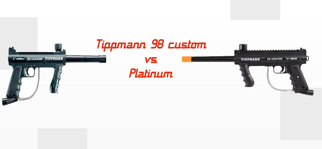 Tippmann 98 Custom vs. Platinum Caliber Paintball Marker Comparison