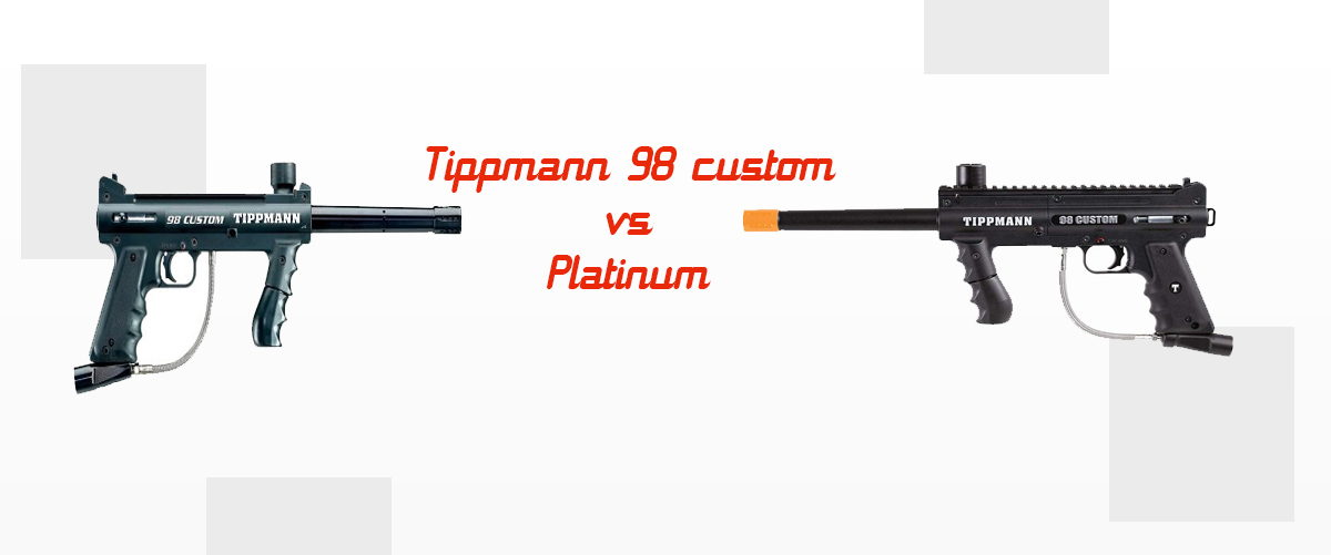 Tippmann-98-Custom-vs-Platinum-Caliber-Paintball-Marker-Comparison